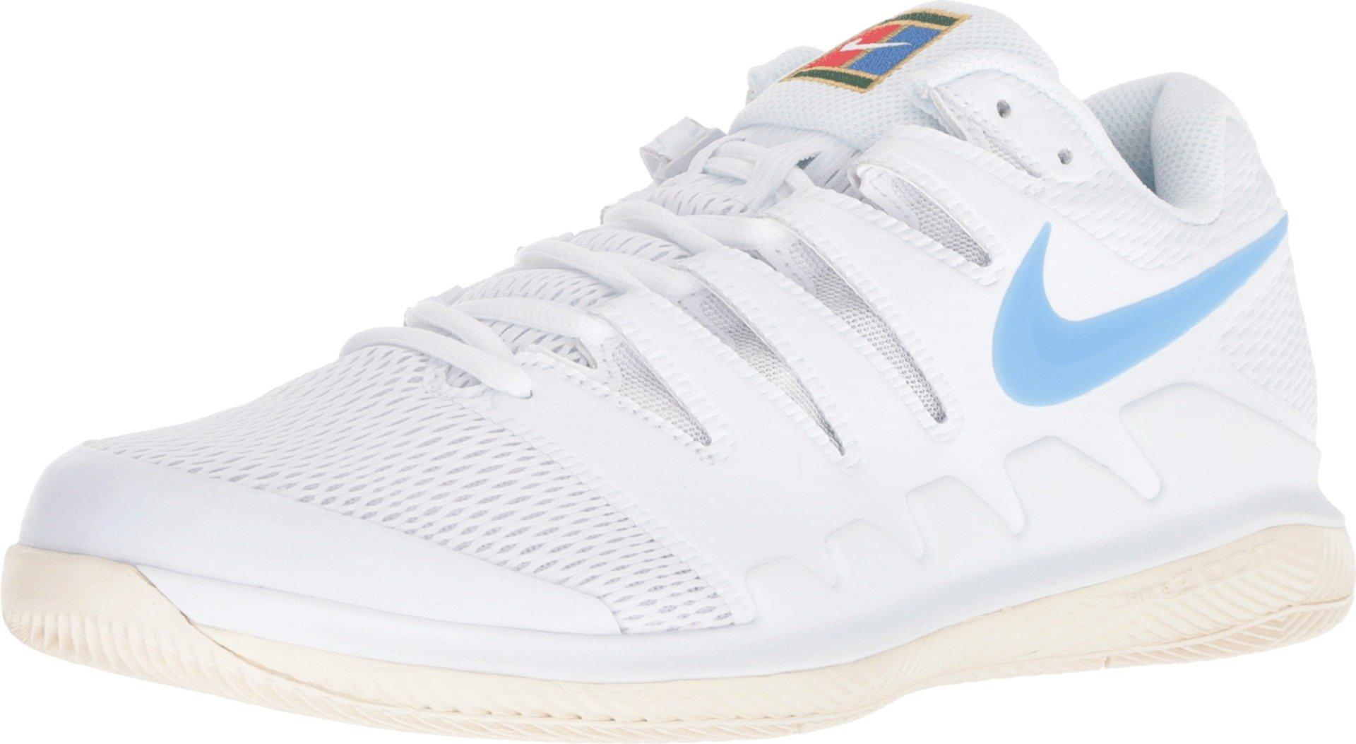 0a6b398d3e962 Nike Men's Zoom Vapor X Tennis Shoes (13 D US, White/University Blue/Light  Cream)