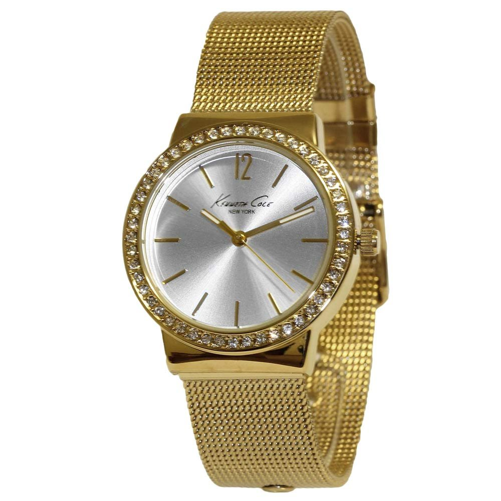 Kenneth Cole New York Goldtone Pave Rhinestone Bezel Watch
