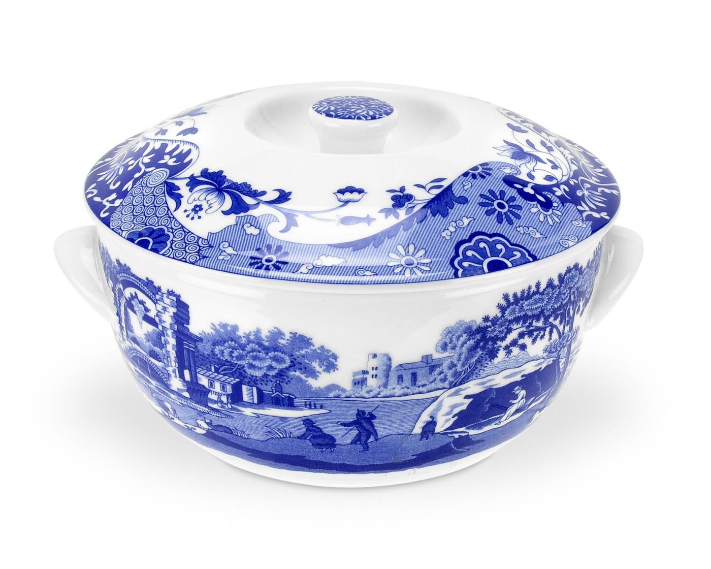 Spode Blue Italian Round Covered Deep Dish by Spode