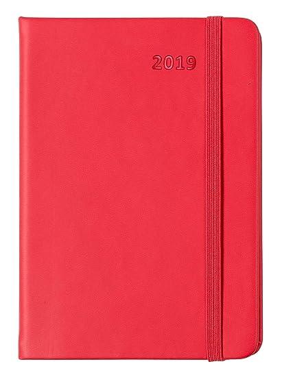 Idena 11209 – Agenda 2019, A5, FSC-Mix, con bolsillo interior, color rojo