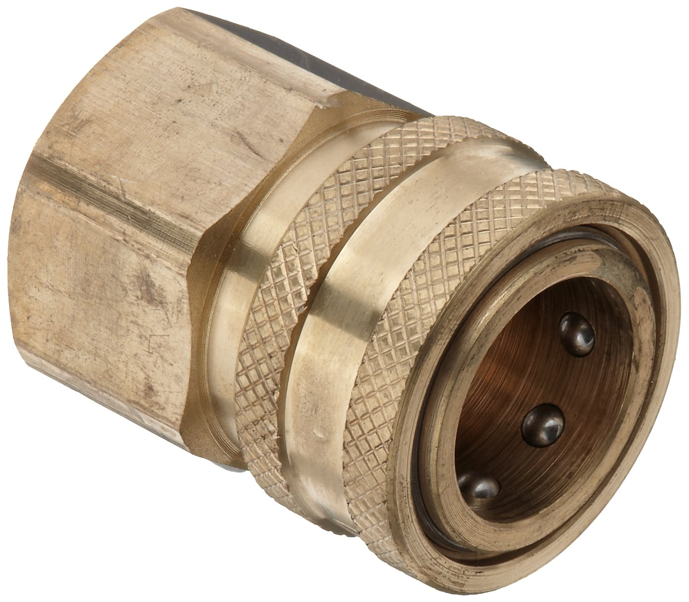 Dixon STFC6 Brass Hydraulic Quick-Connect Fitting, 3/4'' Female Coupling x 3/4''-14 NPTF Female