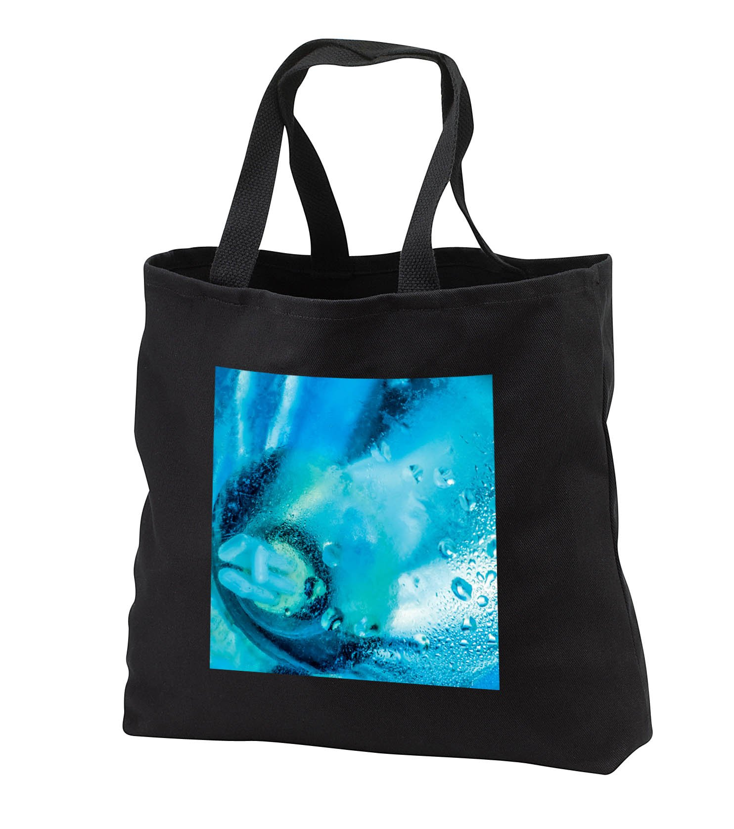 Alexis Photography - Abstracts - Abstract image of misted glass, low energy light bulb visible - Tote Bags - Black Tote Bag JUMBO 20w x 15h x 5d (tb_283999_3)