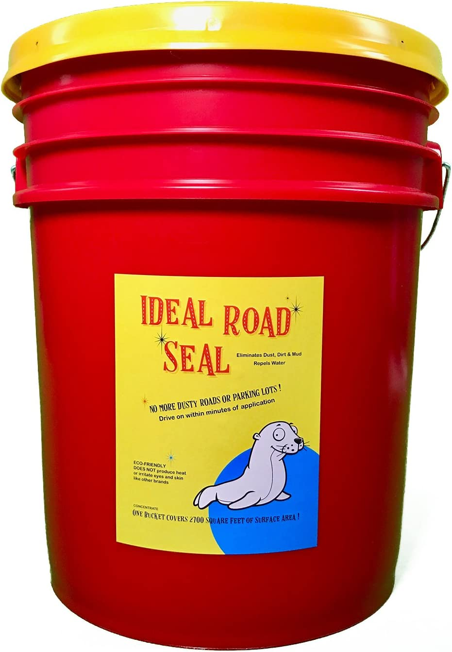 Ideal Road Seal Dust Control, 5 Gallon Liquid Concentrate Covers 2700 SQ. FT, ECO-Friendly!