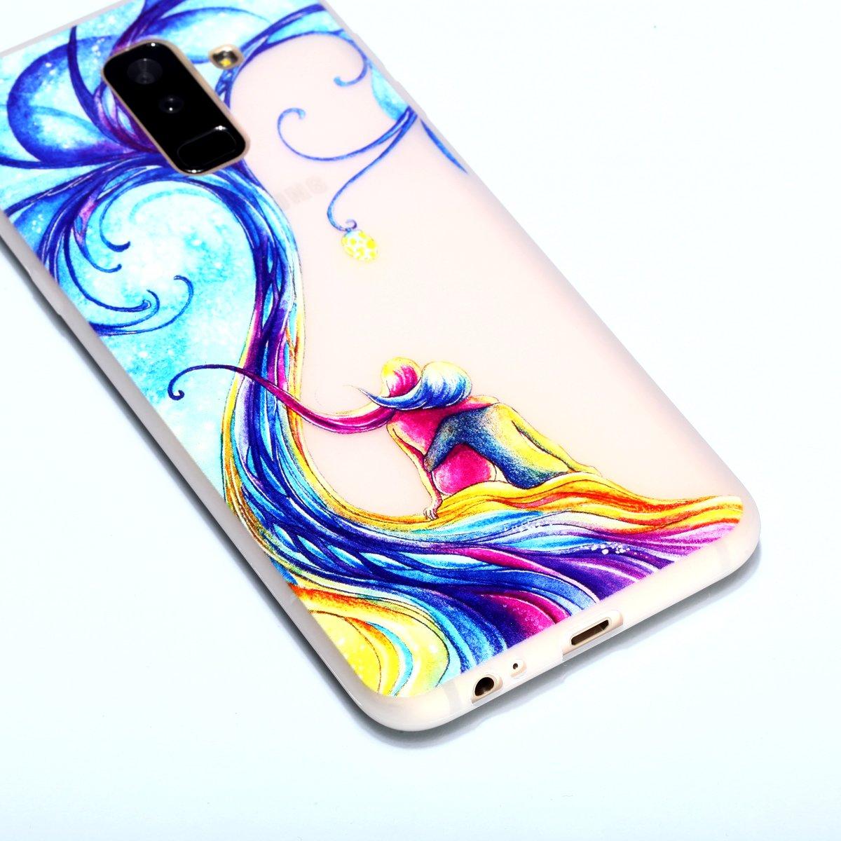 Cerf Sika Slim Etui Noctilucent Coque TPU pour Samsung Galaxy A6 Plus 2018 Coque Carols Coque Samsung Galaxy A6 Plus 2018