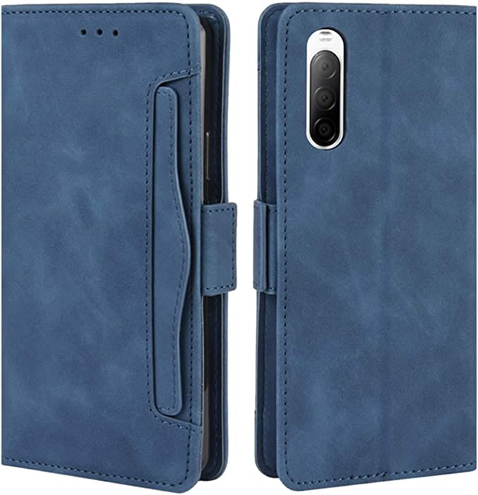 PU//TPU Leather Wallet Cover with Cash /& Card Slots Blue TANYO Flip Folio Case for Sony Xperia 5 II Premium 3D Butterfly Phone Shell