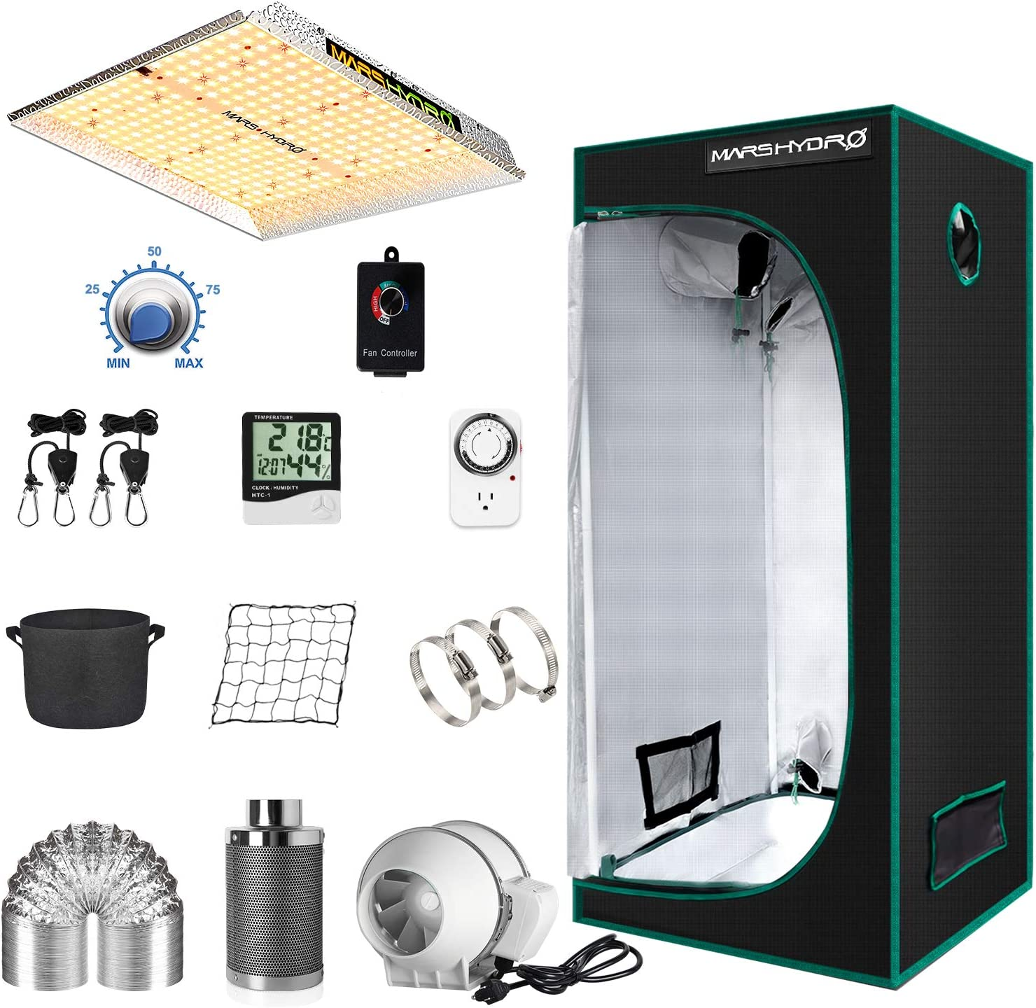 MARS HYDRO Grow Tent With Complete Growing Kit (2.3×2.3ft)
