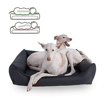 Doggy Fit orthopädisches Cama para Perros Buddy, Piel sintética, Color Gris: Amazon.es: Productos para mascotas