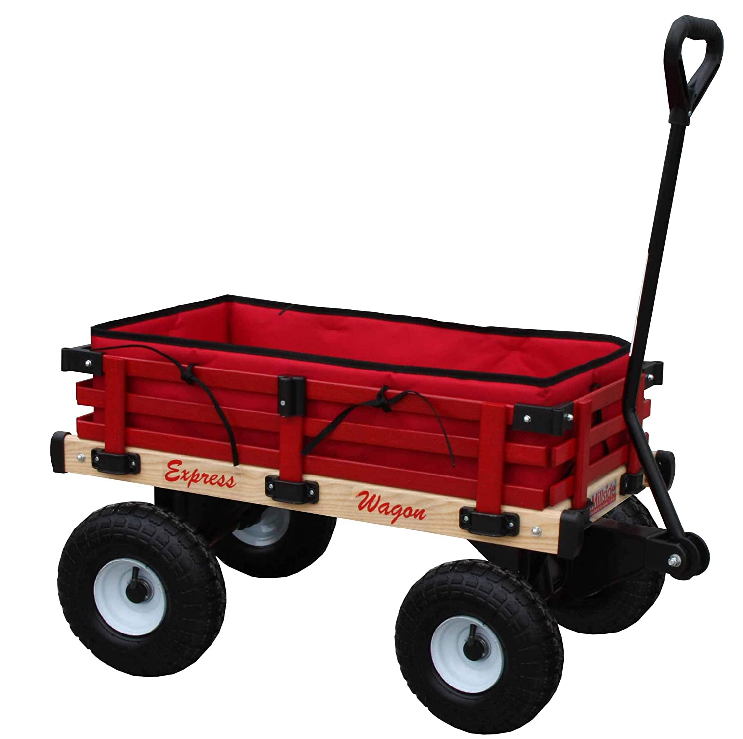 Amazon.com: Millside Industries Wagon Express de madera con ...