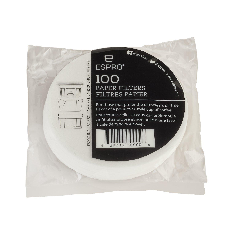 Espro 1008PF-100 Paper Coffee Filter, 12 oz,