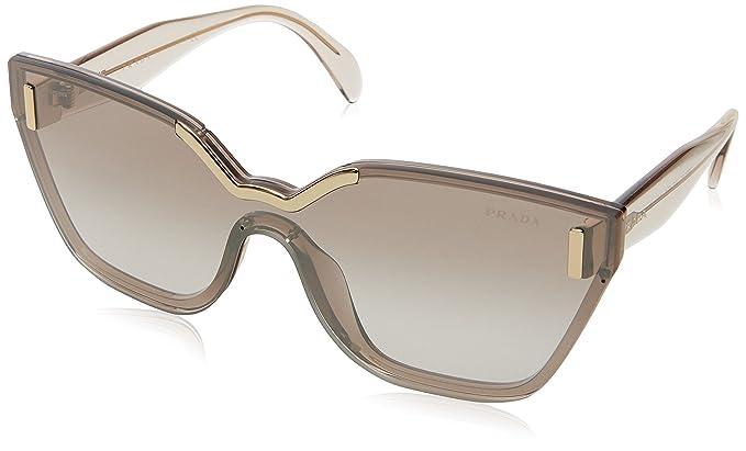 Prada Damen Sonnenbrille 0PR16TS VIQ6S1, Braun (Light Brown/Brown), 48