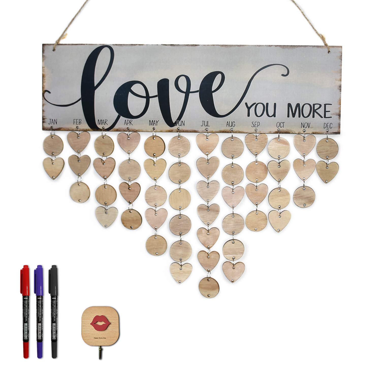 Elekfx Family Birthday Calendar Diy Hanging Love Calendar Wood Board