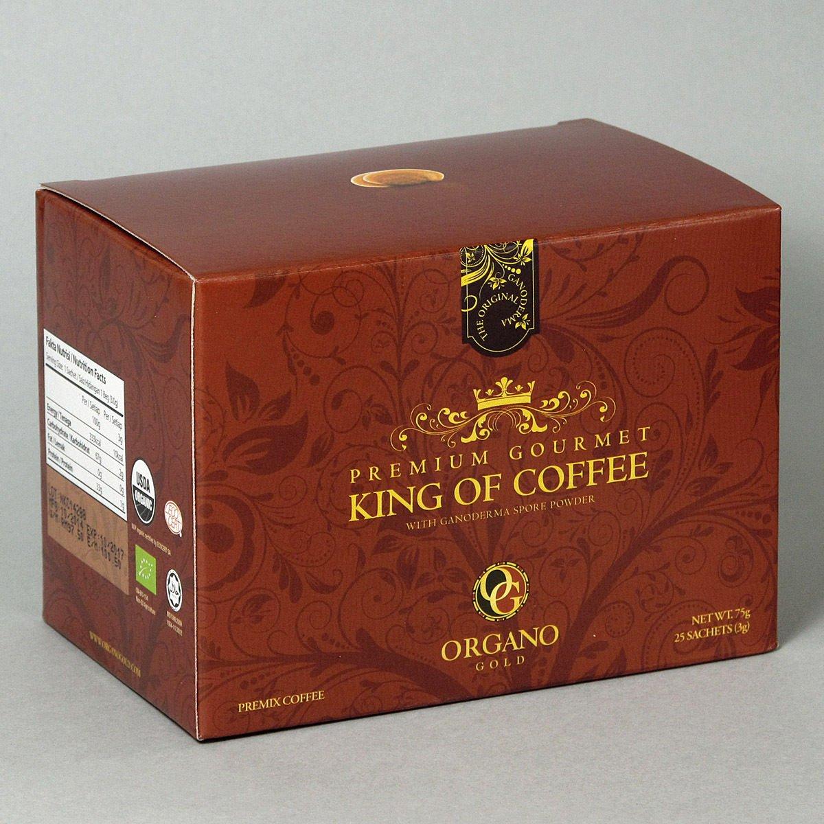 5 Boxes Organo Gold Premium Gourmet King Of Coffee - 25 sachets/box