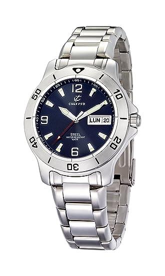Calypso K5089/2 - Reloj de pulsera hombre, acero inoxidable, color Plata: Amazon.es: Relojes
