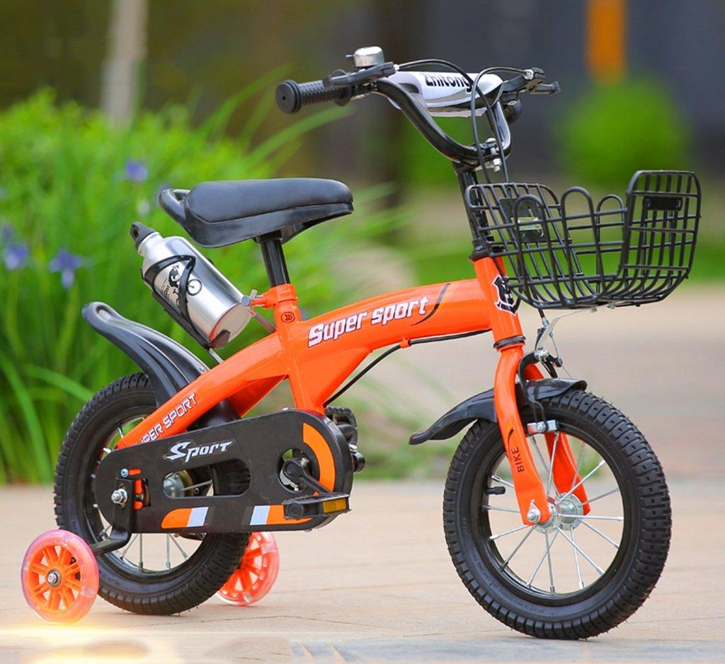 QFF 子供用自転車、オレンジオプションのフラッシュアシストホイールリアシートケトル高炭素スチールボディ丈夫で安全な子供用に設計された2-10 88-121CM ZRJ (色 : C, サイズ さいず : 115CM) B07DNXTCY4 115CM|C C 115CM