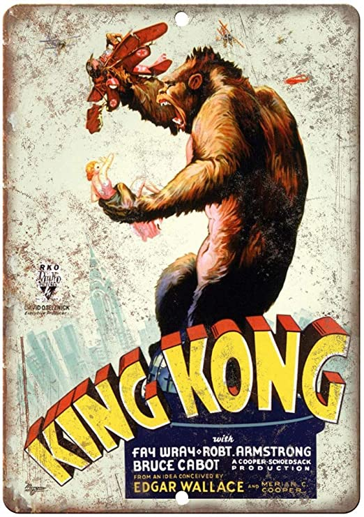 Shunry King Kong RKO Rio Pictures Placa Cartel Vintage ...