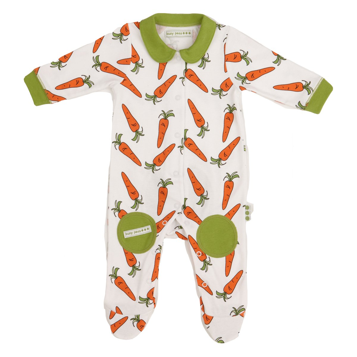 Busy Peas Carrot Print All In One 3 - 6 Months