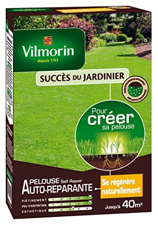a44ece3c55 Vilmorin 4464653 Self'Repair Gazon Pelouse Sac de 1 kg: Amazon.fr ...