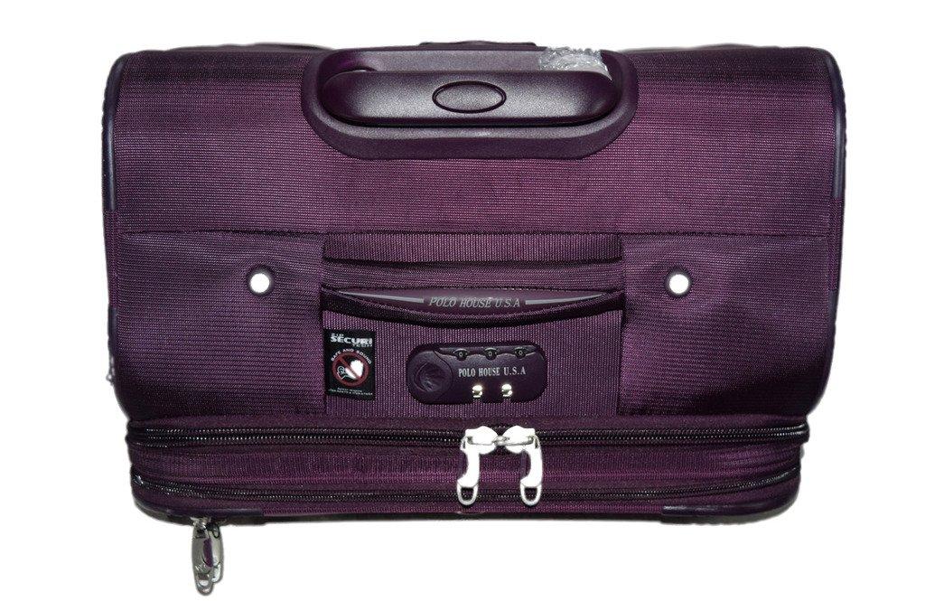 9e831f186d74 Polo House USA Nylon 24-inch 4 Wheel Suitcase Bag (Purple)  Amazon.in  Bags