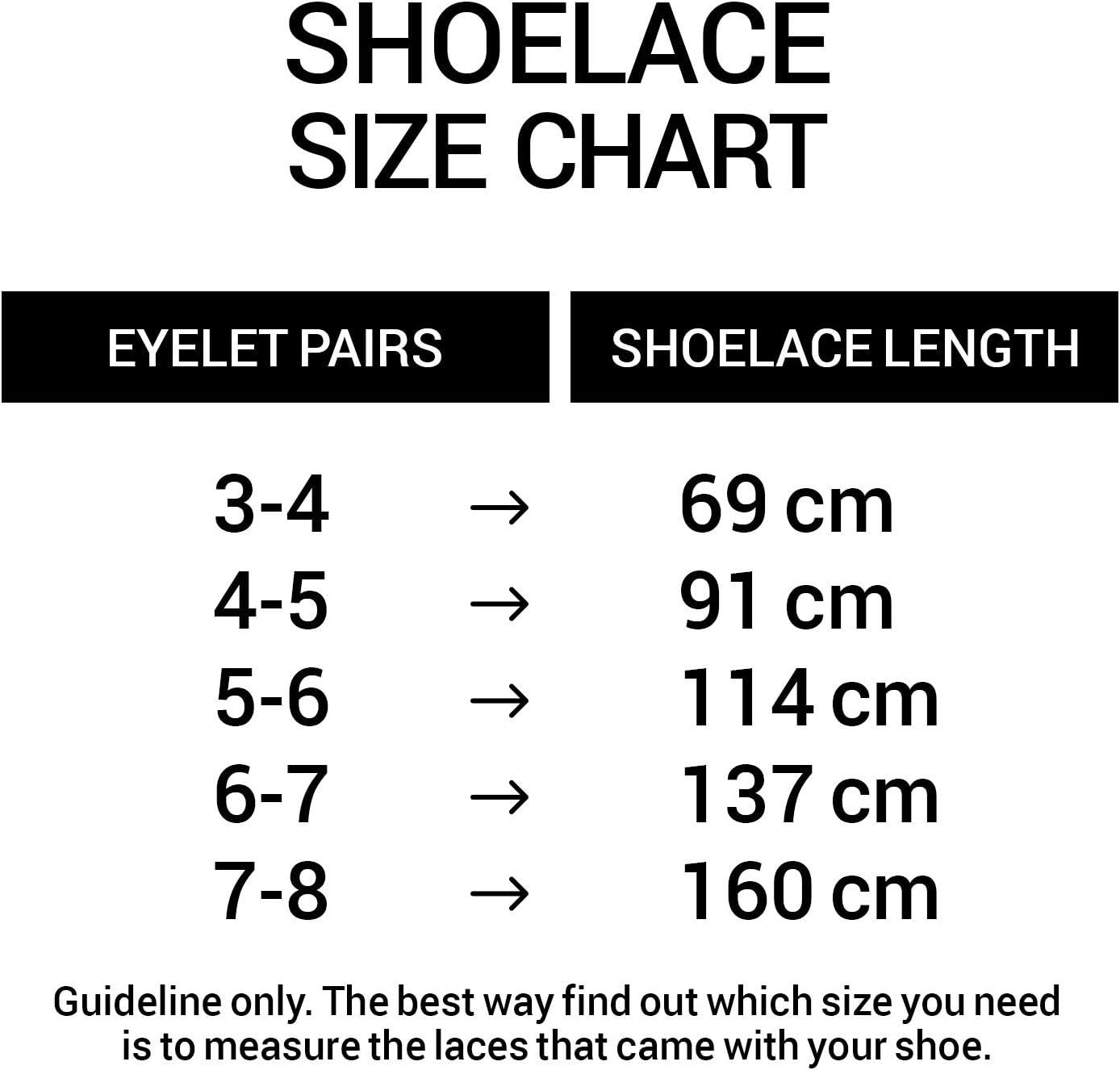 Largeur 6mm Miscly Lacets Plats Fins 3 Paires des Chaussures de Sport et des Bottes des Chaussures de Course pour des Baskets