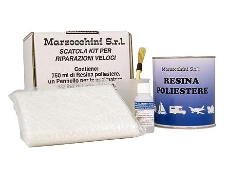 Riparazione Vasca Da Bagno Vetroresina : Kit vetroresina completo per riparazione veloce 750ml: amazon.it