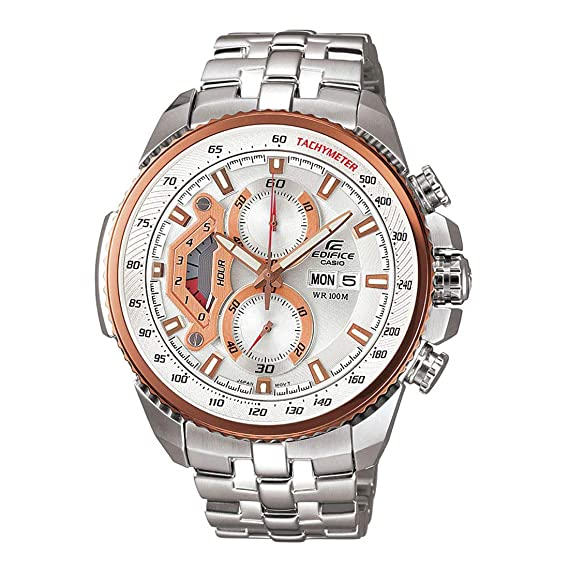 ad8cc82b2da Buy Casio Edifice Tachymeter Chronograph Multi-Color Dial Men s Watch - EF-558D-7AVDF  (ED438) Online at Low Prices in India - Amazon.in
