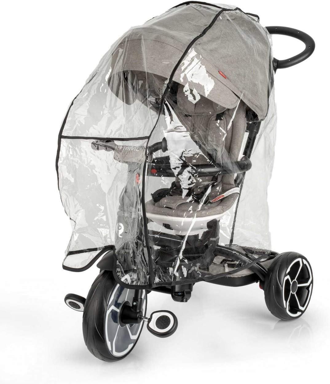 Protector de lluvia para triciclos QPlay - Burbuja Lluvia - Raincover - Impermeable - Cortaviento - Con ventilación - Compatible con triciclos QPlay
