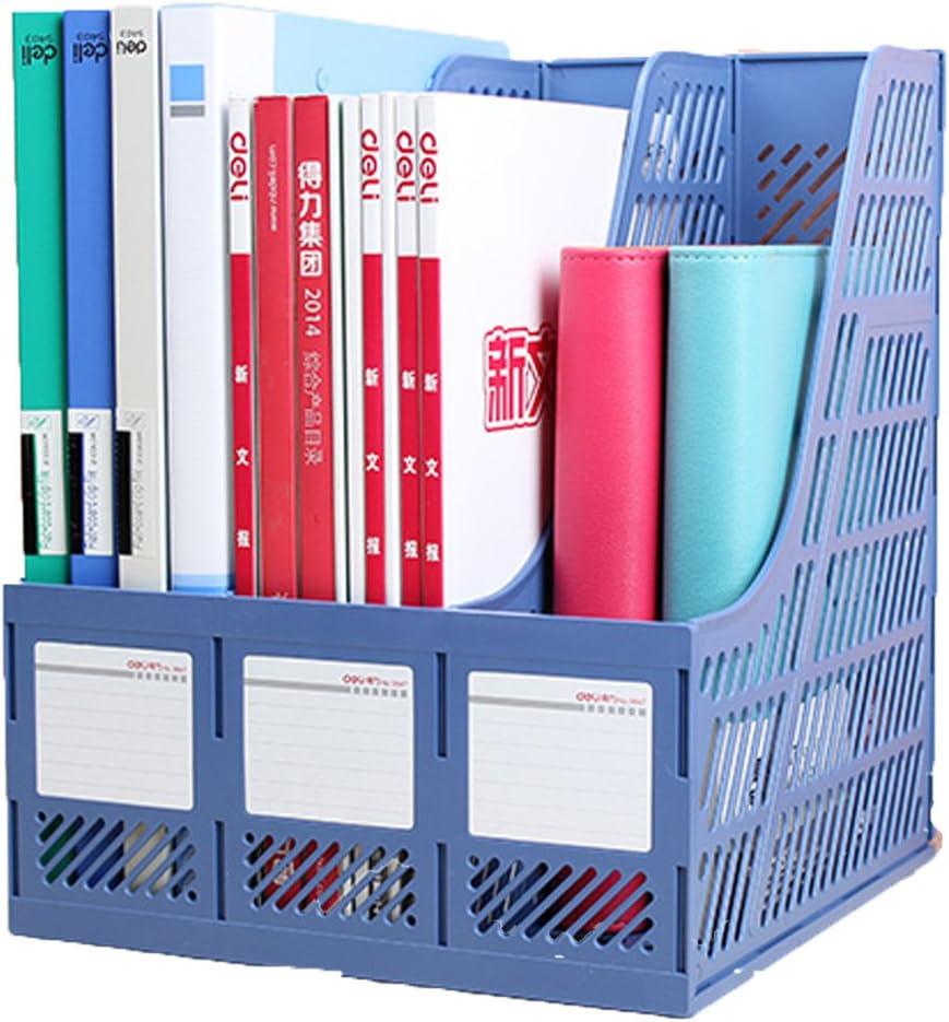 RAEADLIFE Stehsammler Zeitschriftenbox 3 F/ächer DIN A4 Klassisches Office B/üro Zeitschriftensammler aus Kunststoff