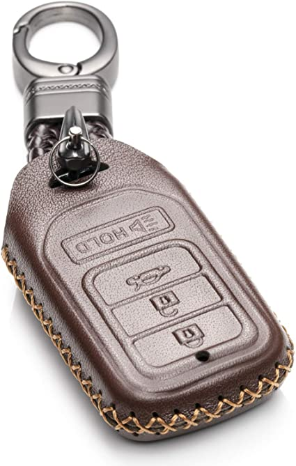 INC Acura TLX Red Leather Key Ring Au-Tomotive Gold