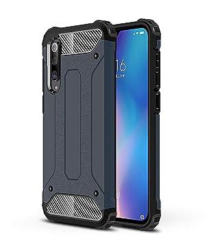RFly Funda para Xiaomi Mi 9 SE, con Absorción de Choque Resistente Doble Capa Rugged Armor Funda, para Xiaomi Mi 9 SE Smartphone, Azul Oscuro: Amazon.es: Electrónica