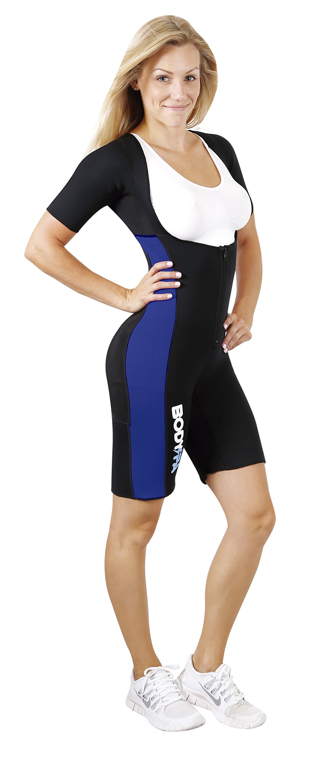 Body Spa Light Body Sauna Suit Neoprene Full Body Shaper Gym Sport Aerobic (Blue, XL) 13832