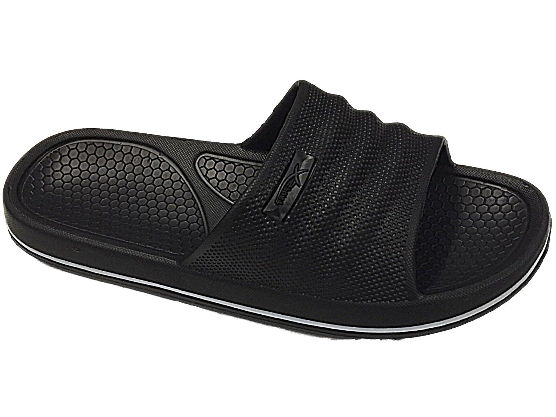 Mens Beach Pool Sliders Flip Flops Slip On Mules Shower Sandals Shoes Size 6-11