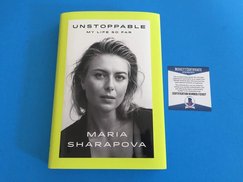 Maria Sharapova Tennis Autographed Signed Memorabilia Auto Hard Copy Book Beckett Authentic Coa