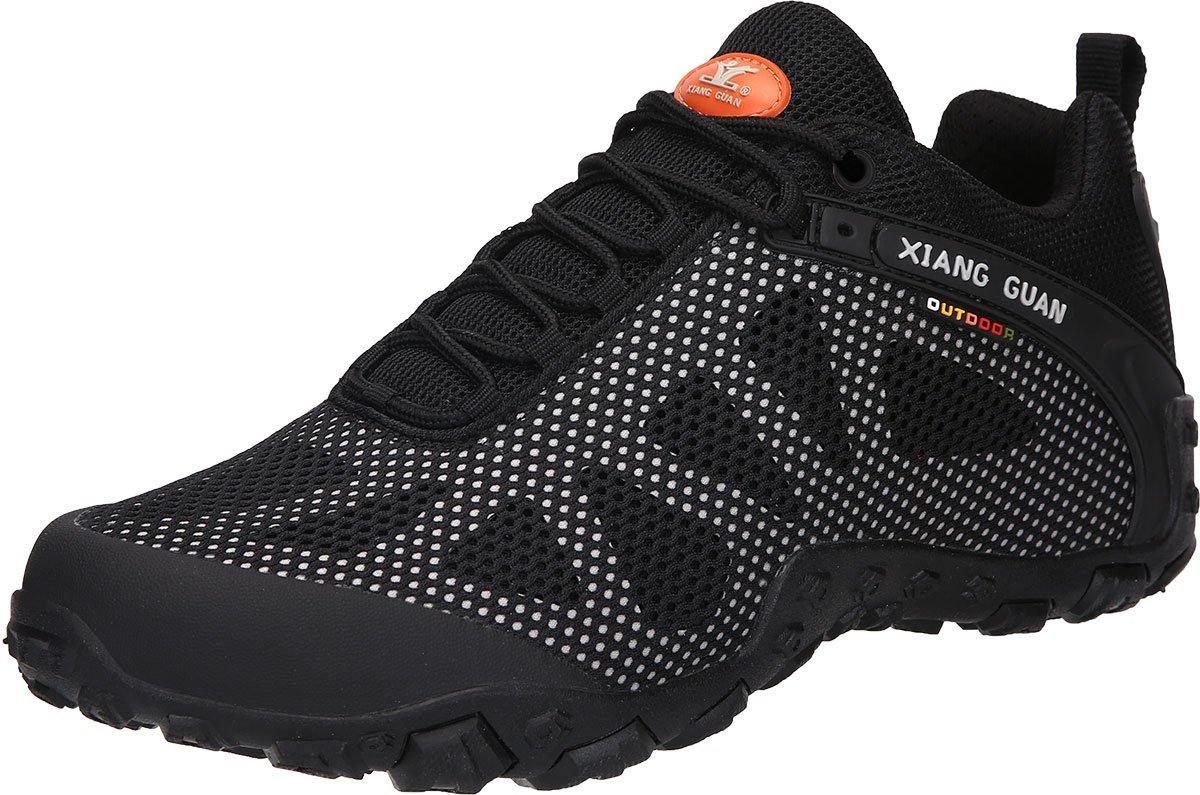 XIANG GUAN Men's Outdoor Low-Top Mesh Breathable Lightweight Walking Shoes 6.5 D(M) US Grey