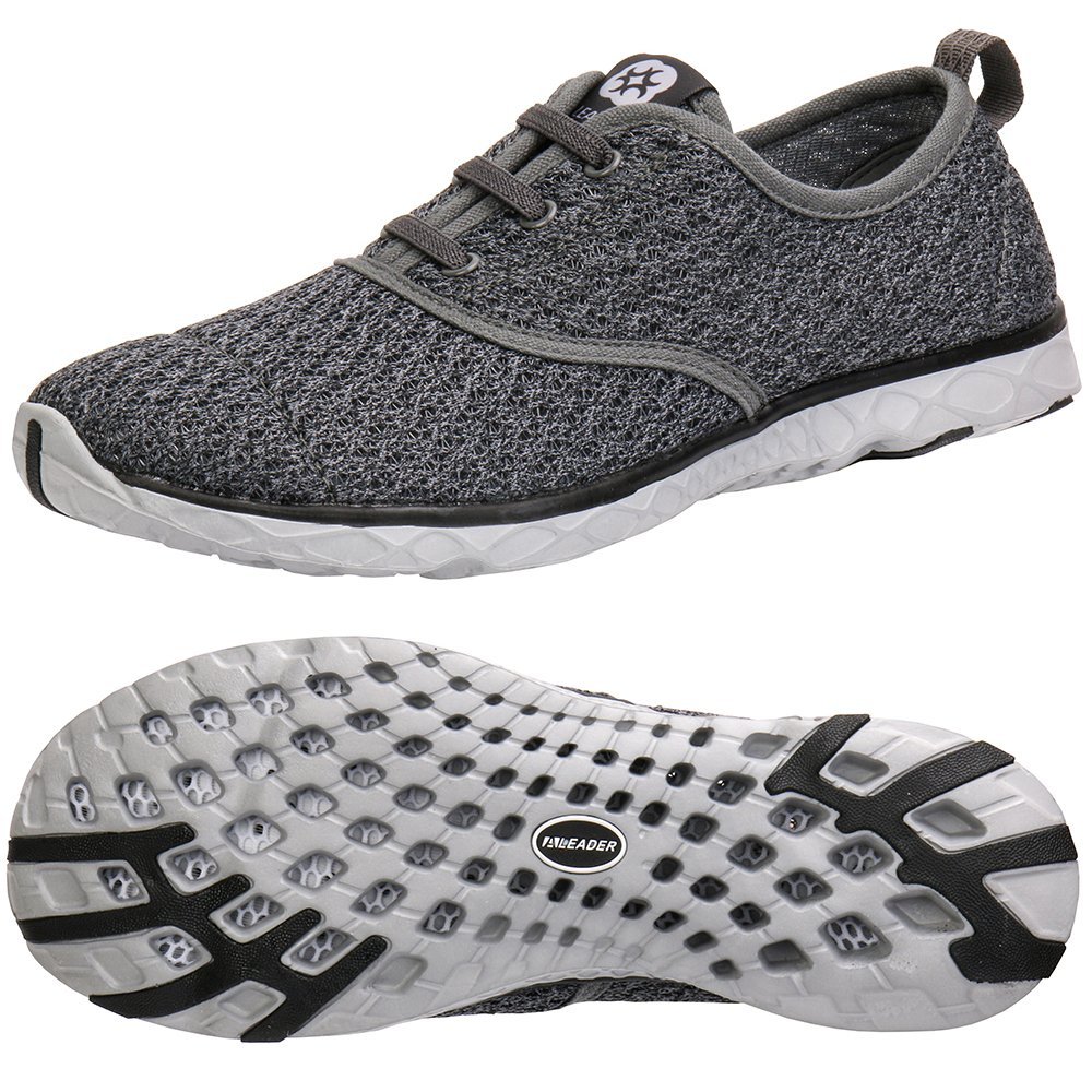 ALEADER Men's Stylish Quick Drying Water Shoes Gray 10 D(M) US