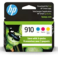 HP 910 Cyan, Magenta & Yellow Original Ink, 3 Cartridges (3YN97AN)