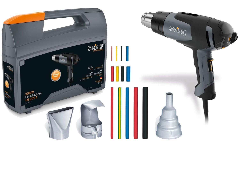 Steinel Professional Kit HG 2120und Heißluftpistole 2200W 80–630°C (1°/2°/3° Grad) 150/150–300/300–500l