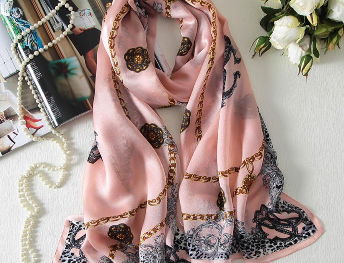 GAO Silk silk scarves Print embroidery Embroidery shawls dual use Summer scarf wild long Beach towel (length  180  60cm, Packing of 1) (color   J)