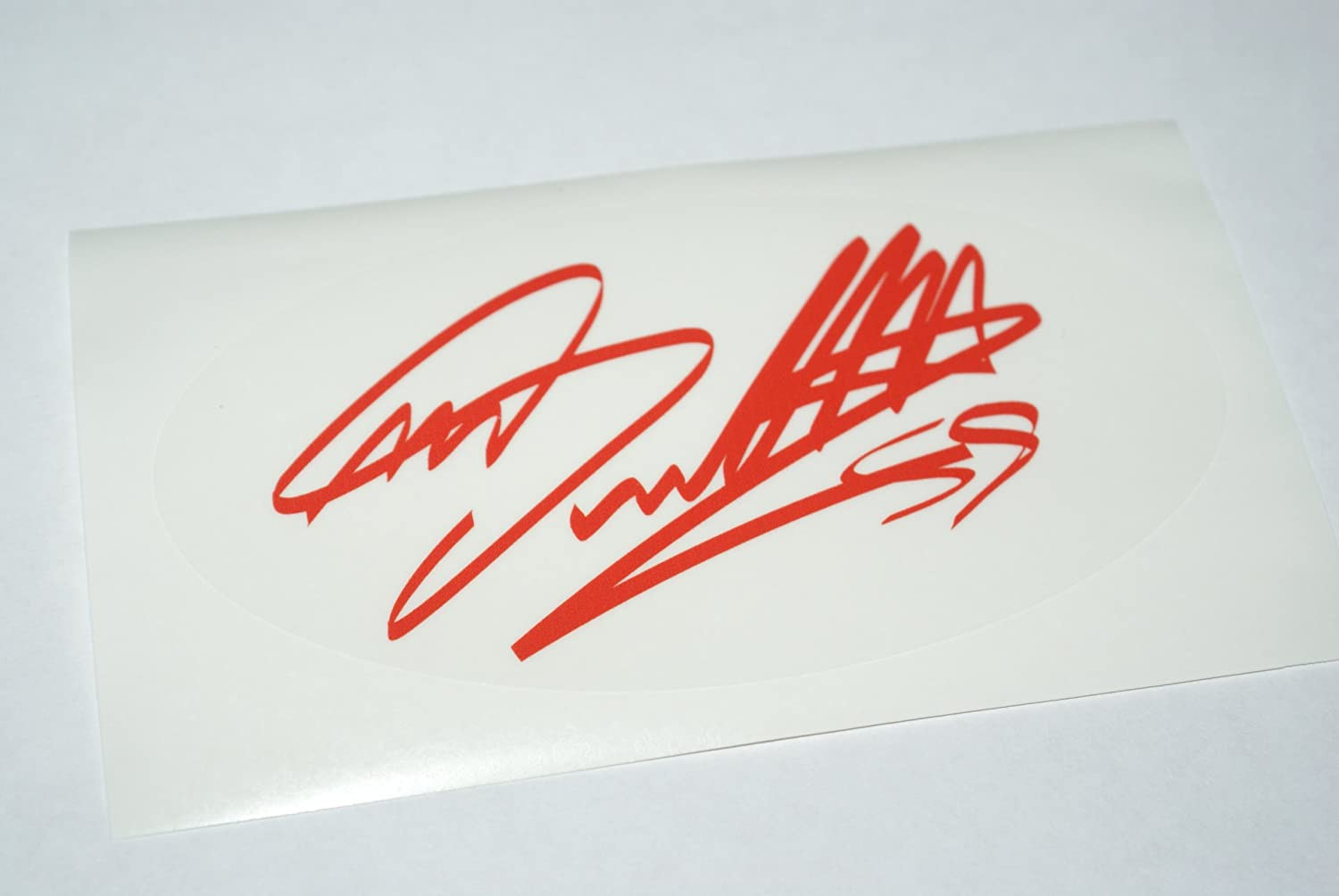 Red Rapro Graphics Marco Simoncelli Signature Decal