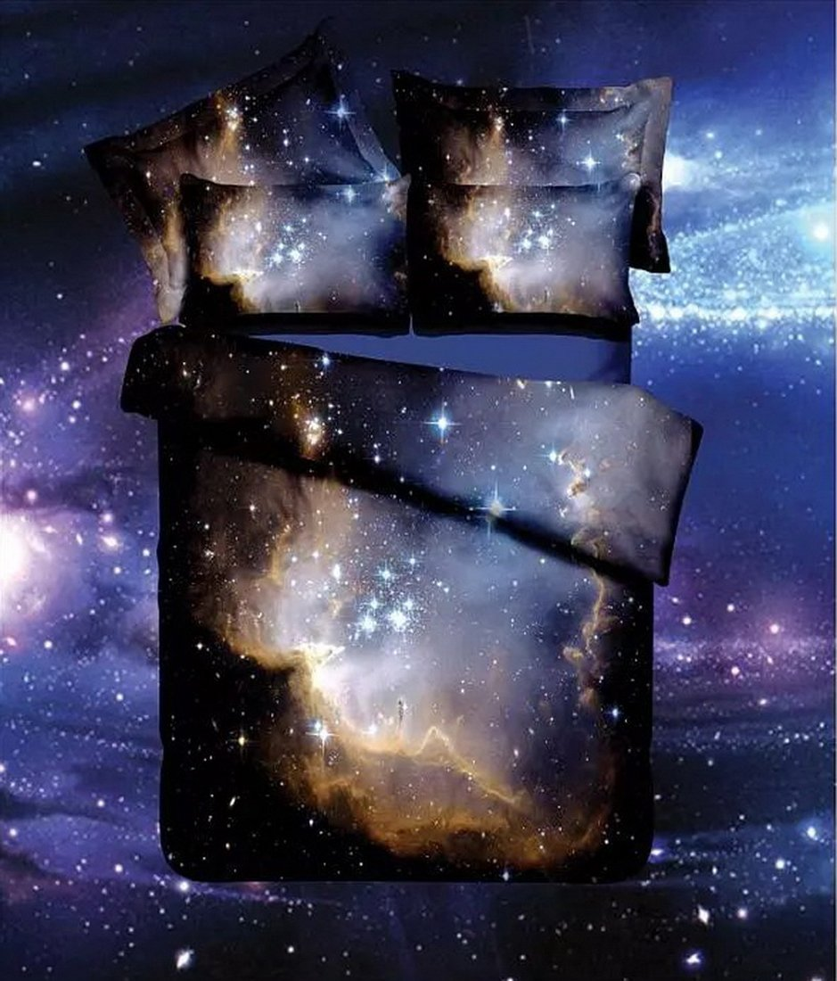 3D Bedruckte Steppdecke Bettbezug Kissenbezüge Spannbetttuch Geheimnisvolle Geheimnisvolle Geheimnisvolle Boundless Galaxy rot Sky Starry Night Betten Sets, Style 11, 3PCS 160-210cm B07877M6SB Bettbezüge 6bc1e8