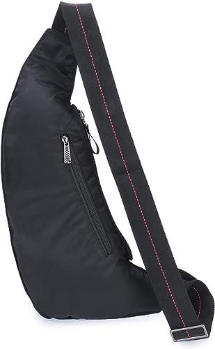 BIG SALE Sling Backpack, Sling Bag Small Crossbody Daypack Casual Backpack Chest Shoulder Pack Black1142