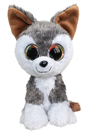 Lumo Stars Wolf Hukka Animales de Juguete Felpa Gris, Blanco - Juguetes de Peluche (