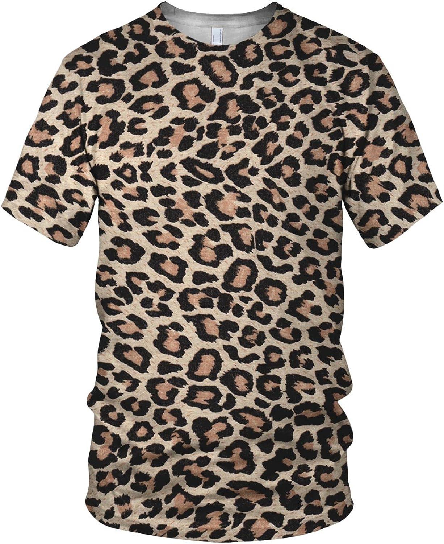 Estampado Entero Piel De Leopardo Relacionados Hombre Moda Camiseta - sintético, Multicolor, 100% poliéster, Hombre, Grande, Multicolor: Amazon.es: Ropa y accesorios
