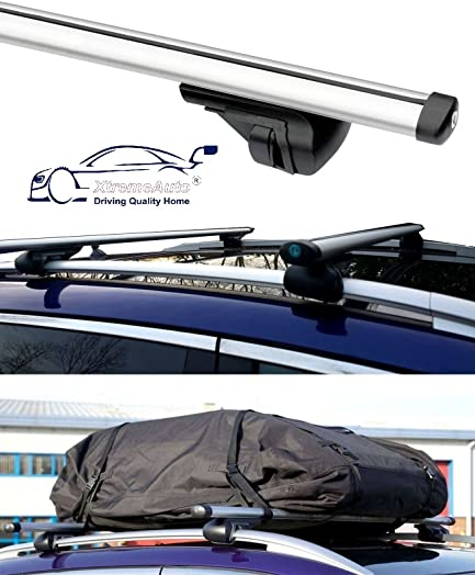 High Quality XtremeAuto® BLACK Waterproof Car Roof Storage Cargo Bag System Complete  With Lockable Roof Bars