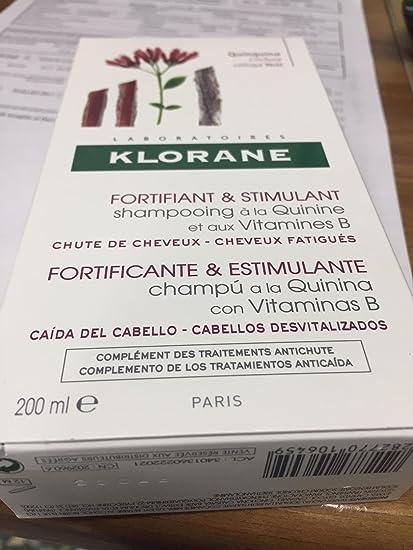 KLORANE CHAMPU FORTIFICANTE QUININA 200 ML: Amazon.es: Belleza