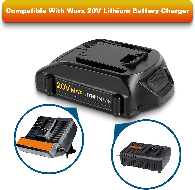 Worx WA3525 20V Max 2.0 Ah Lithium-Ion Battery