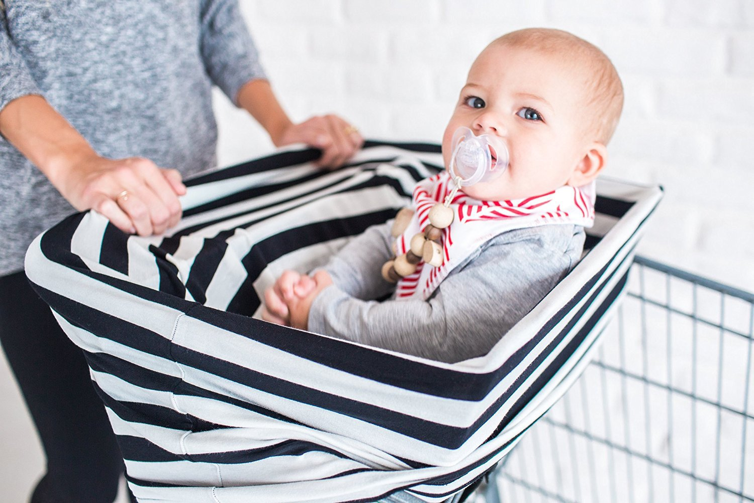 Multi-Use Cotton Nursing Breastfeeding Cover Baby Car Set Cover Canopy Shopping Cart Cover Swaddle Blanket for Infants Newborns Toddlers Shower Gift I