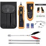 Incutex détecteur de câbles réseau, testeur RJ45/RJ11 pour lignes téléphoniques et câbles LAN, détecteur de lignes