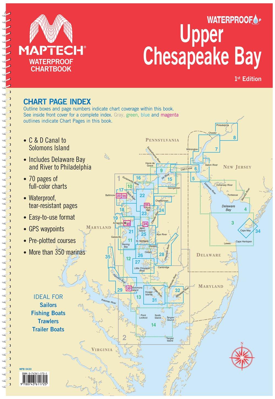 Download Maptech Upper Chesapeake Bay Waterproof Chartbook 1st Ed PDF