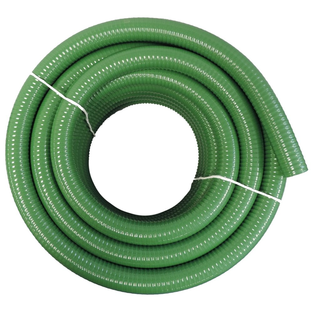 1 1/2' Dia. x 50 ft HydroMaxx Flexible PVC Heavy Duty Green Suction and Discharge Hose