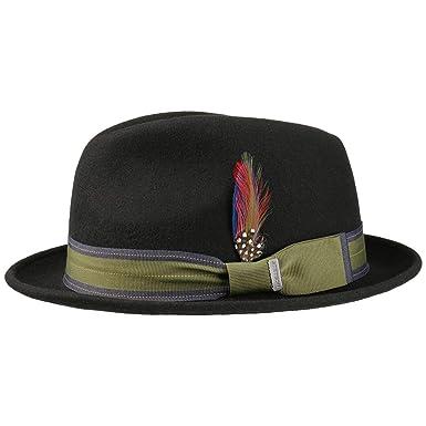 0f3cb1ed7aa Stetson Manhat Wool Felt Fedora Hat Men at Amazon Men s Clothing store